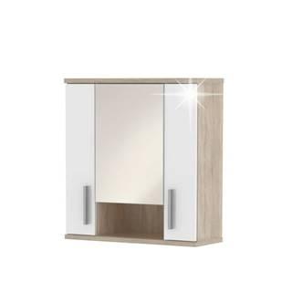 Lessy LI 1 kúpeľňová skrinka na stenu dub sonoma