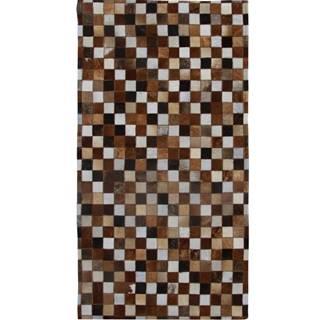 Typ 3 kožený koberec 200x304 cm vzor patchwork