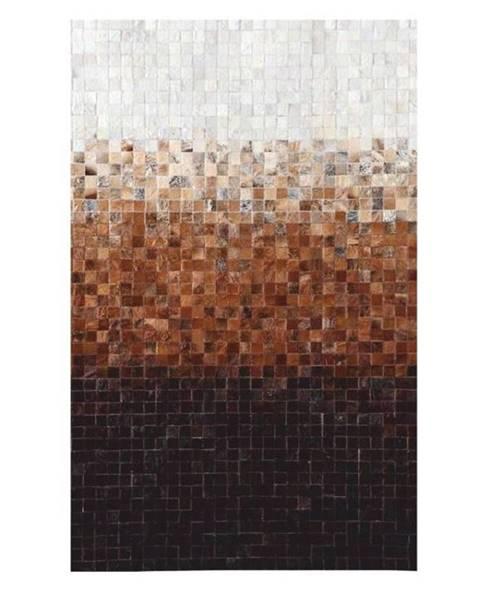 Kondela Typ 7 kožený koberec 120x180 cm vzor patchwork