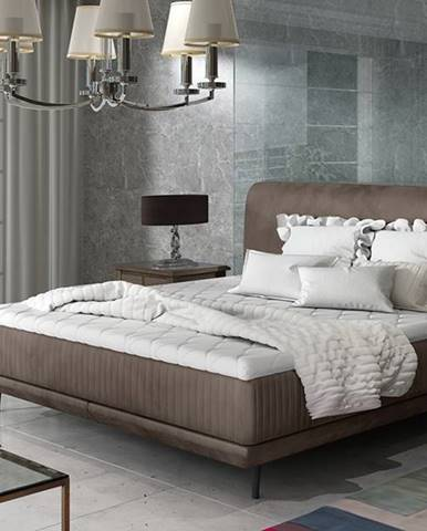 Ancona 140 čalúnená manželská posteľ hnedá