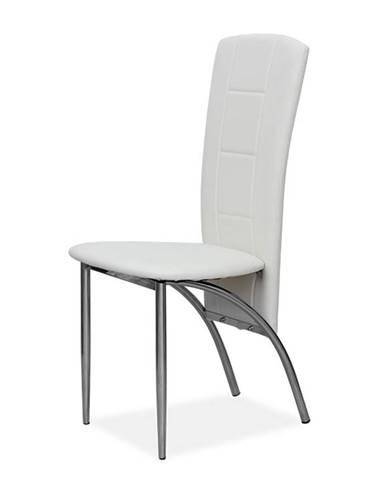 Fina jedálenská stolička biela