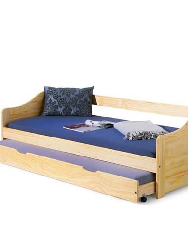 Laura 90 drevená rozkladacia posteľ s prístelkou borovica
