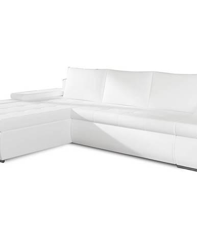 Oristano L rohová sedačka s rozkladom a úložným priestorom biela