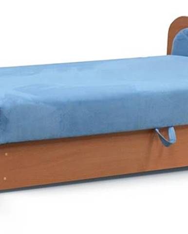 Pinerolo 80 P jednolôžková posteľ (váľanda) s úložným priestorom svetlomodrá