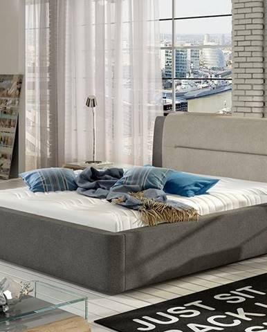 Portima 180 čalúnená manželská posteľ tmavosivá