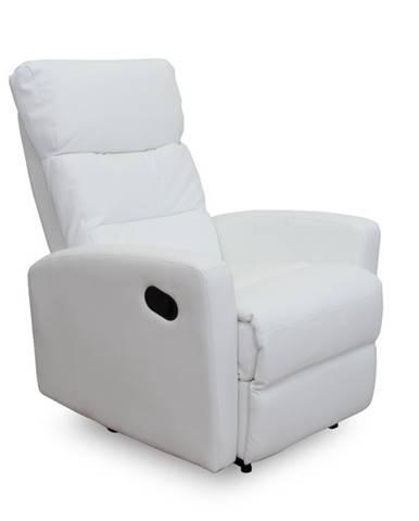 Silas relaxačné kreslo biela