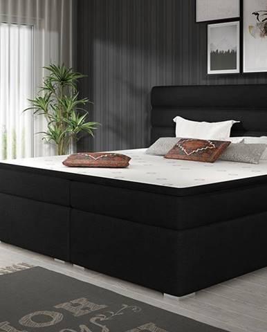 Spezia 140 čalúnená manželská posteľ s úložným priestorom čierna (Sawana 14)