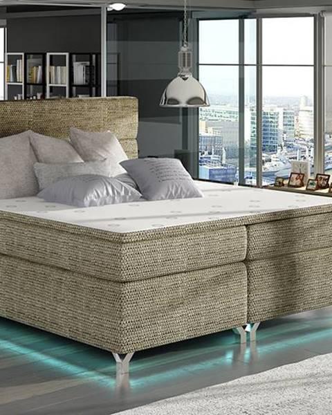 NABBI Avellino 140 čalúnená manželská posteľ s úložným priestorom cappuccino