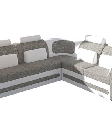 Bolzano P rohová sedačka s rozkladom a úložným priestorom sivá (Berlin 01)