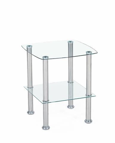 Canaria sklenený konferenčný stolík priehľadná