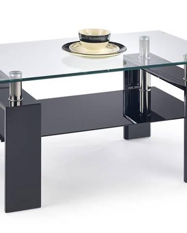 Diana H sklenený konferenčný stolík čierny lesk