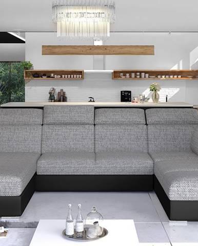 Ermo U L rohová sedačka u s rozkladom a úložným priestorom sivá