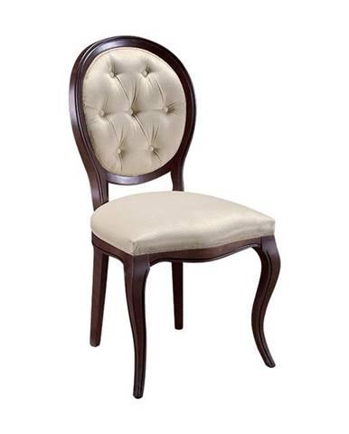 Krzeslo S1 rustikálna jedálenská stolička hnedá