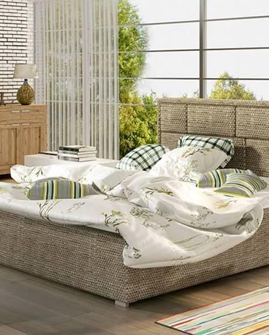 Liza UP 140 čalúnená manželská posteľ s roštom cappuccino