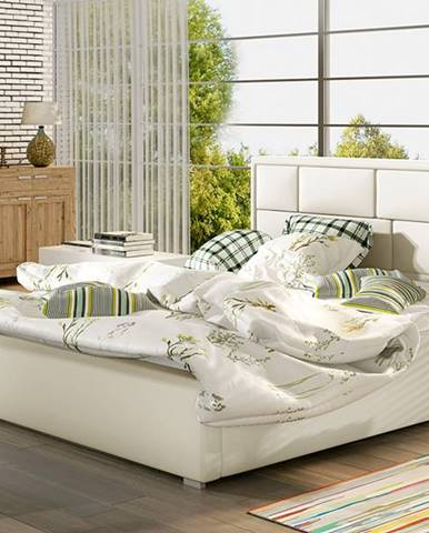 Liza UP 160 čalúnená manželská posteľ s roštom béžová