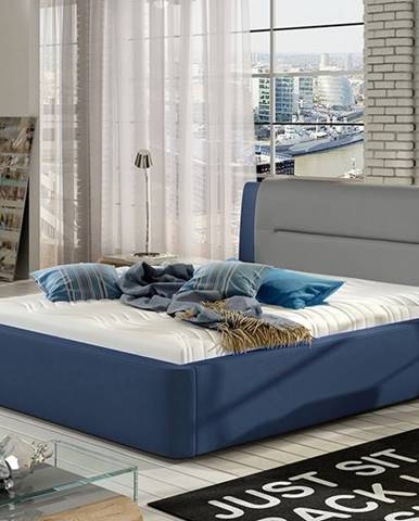 Portima 160 čalúnená manželská posteľ modrá