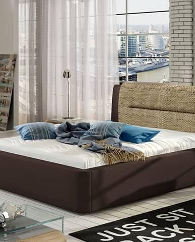 Portima 160 čalúnená manželská posteľ tmavohnedá
