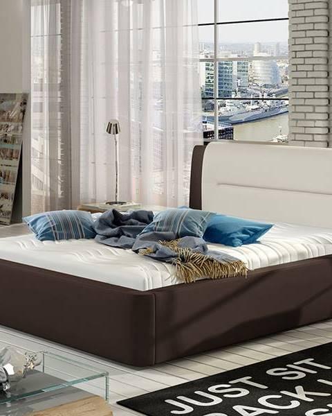 NABBI Portima 160 čalúnená manželská posteľ tmavohnedá (Soft 66)