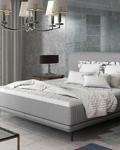 Ancona 140 čalúnená manželská posteľ svetlosivá (Cover 83)