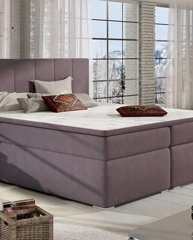 Barmo 180 čalúnená manželská posteľ s úložným priestorom fialová