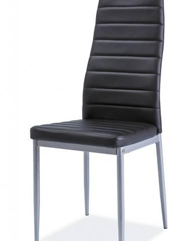 H-261 BIS ALU jedálenská stolička čierna