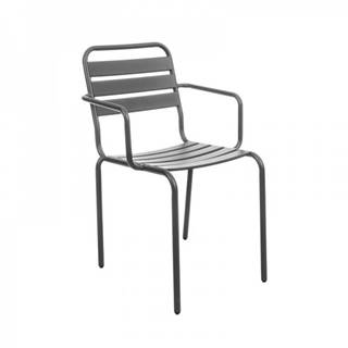 Vittorio záhradná stolička sivá