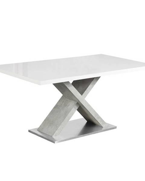 Tempo Kondela Farnel 160 jedálenský stôl biely lesk