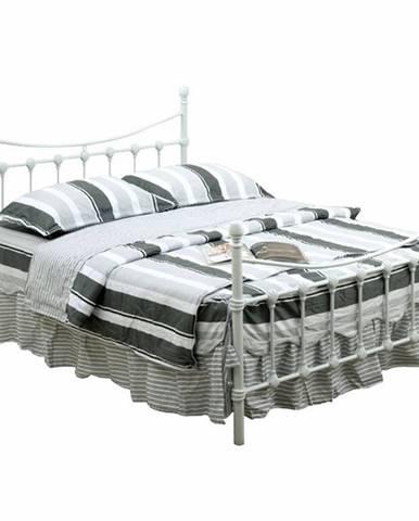 Nieves New 160 kovová manželská posteľ s roštom biela