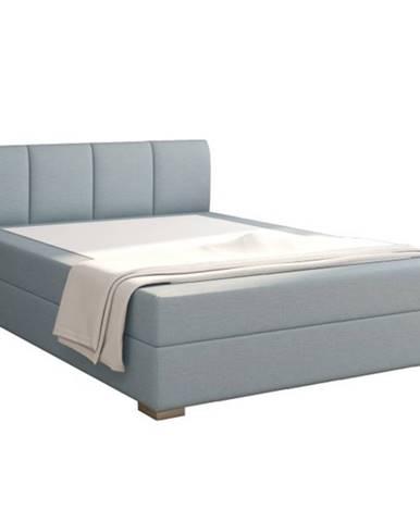 Riana Komfort 120 čalúnená jednolôžková posteľ mentolová