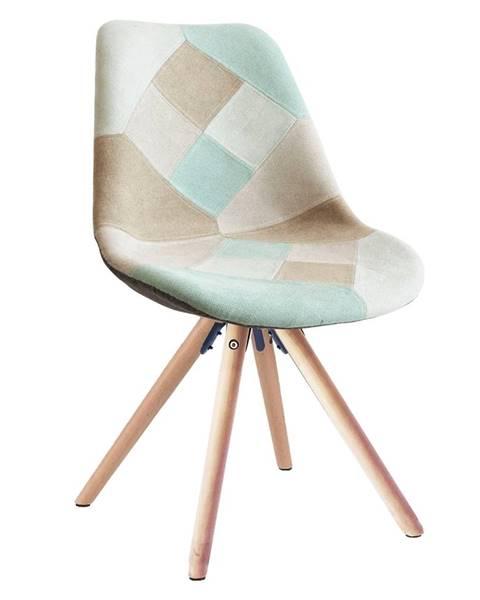 Tempo Kondela Gloria jedálenská stolička mentolový patchwork