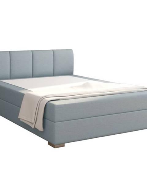 Tempo Kondela Riana Komfort 140 čalúnená manželská posteľ mentolová
