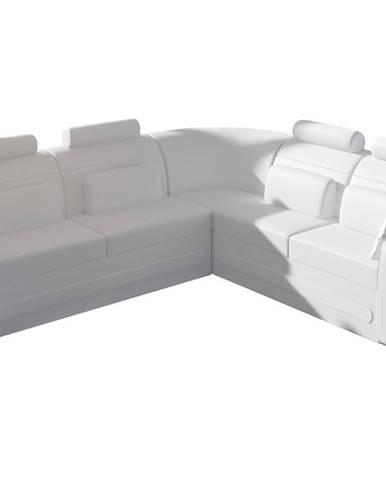 Bolzano P rohová sedačka s rozkladom a úložným priestorom biela