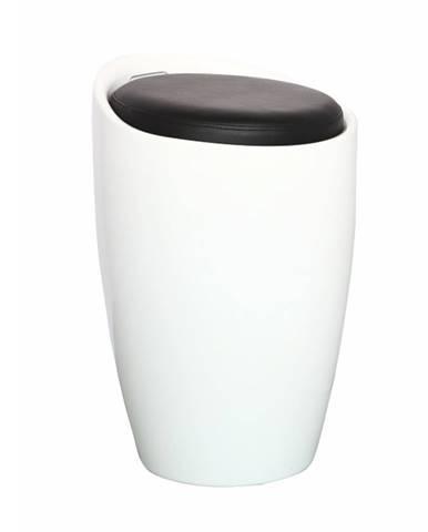Dalila HC-8114 New taburetka s úložným priestorom biela