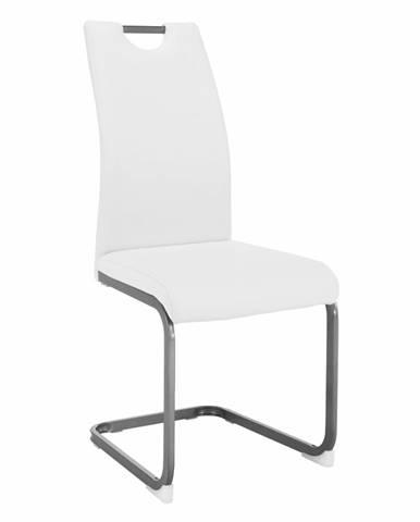 Dekoma jedálenská stolička biela