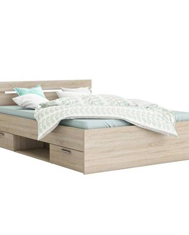 Michigan 140 manželská posteľ s úložným priestorom dub sonoma