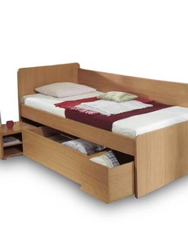 Oto 90 jednolôžková posteľ s úložným priestorom buk