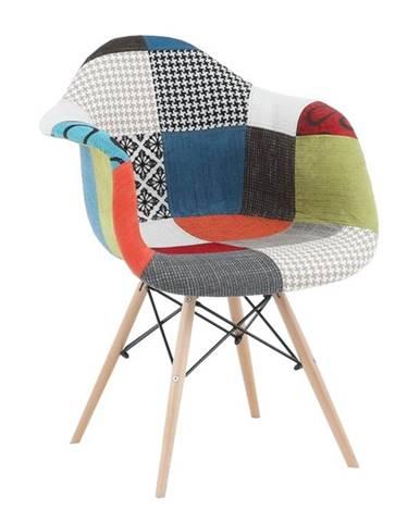 Tobo 3 New jedálenská stolička vzor patchwork