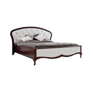Milano MI-1 160 rustikálna manželská posteľ biela