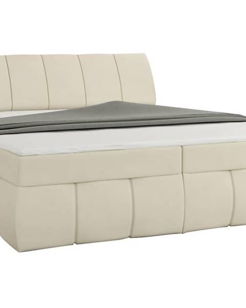 NABBI Vareso 180 čalúnená manželská posteľ s úložným priestorom béžová (Soft 33)