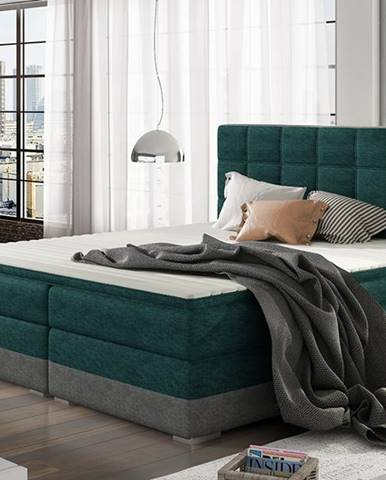 Dalino 160 čalúnená manželská posteľ s úložným priestorom svetlomodrá