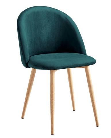 Fluffy jedálenská stolička smaragdová