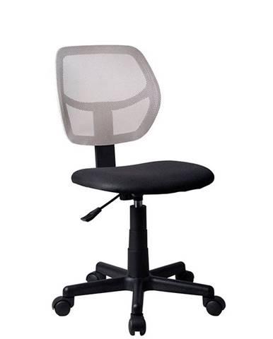 Mesh kancelárska stolička sivá