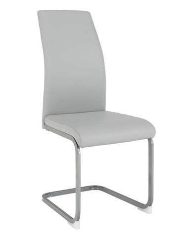 Nobata jedálenská stolička svetlosivá