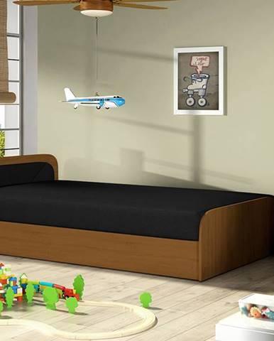 Pinerolo 80 L jednolôžková posteľ s úložným priestorom čierna