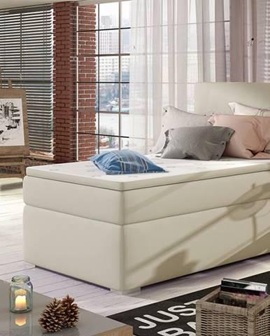 Rodrigo 90 P čalúnená jednolôžková posteľ s úložným priestorom béžová
