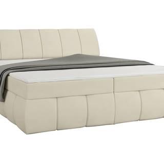 Vareso 180 čalúnená manželská posteľ s úložným priestorom béžová (Soft 33)