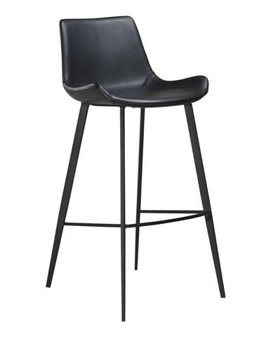 Čierna barová stolička z eko kože DAN–FORM Denmark Hype
