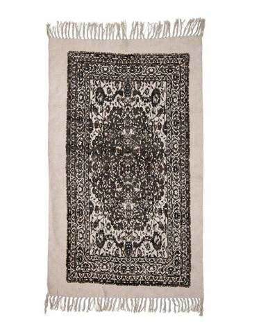Béžovo-čierny koberec Bloomingville Luca, 90 x 150 cm