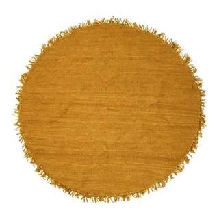 Žltý jutový koberec Bloomingville Sun, ⌀ 150 cm