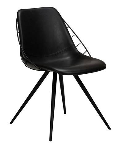 Čierna jedálenská stolička v imitácii kože DAN-FORM Denmark Sway